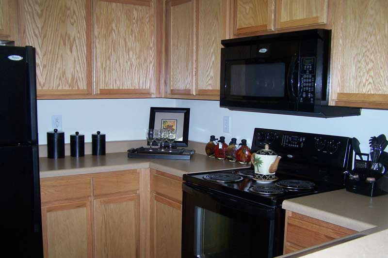 Gourmet Kitchen with Black Appliances